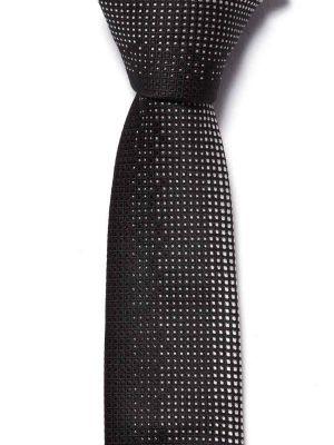 ZT-186 Structure Black Slim Tie