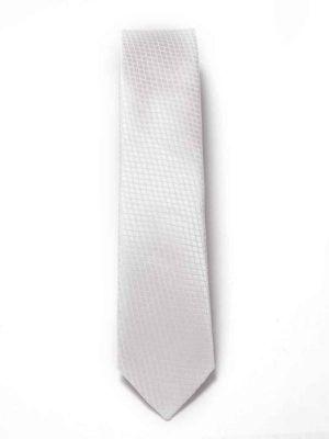 ZT-190 Structure White Slim Tie