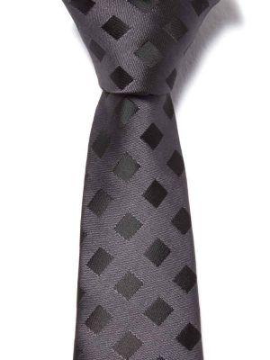 ZT-191 Checks Black Slim Tie