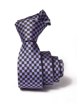 ZT-197 Structure Purple Slim Tie