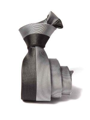 ZT-198 Structure Black Slim Tie