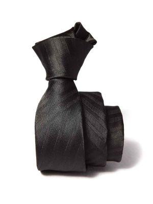 ZT-200 Structure Black Slim Tie