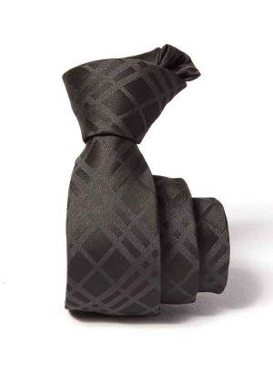 ZT-203 Checks Black Slim Tie