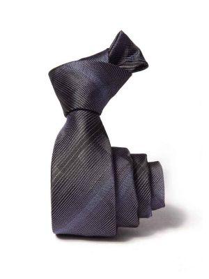 ZT-204 Striped Purple Slim Tie
