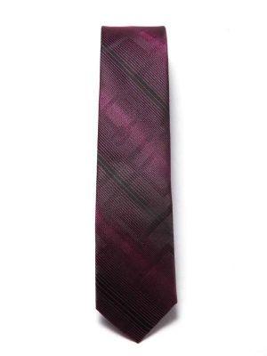 ZT-205 Striped Aubergine Slim Tie