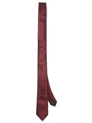 ZT-208 Stripes Burgundy Slim Tie