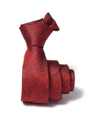 ZT-228 Structure Red Slim Tie