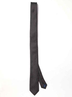 ZT-230 Structure Black Slim Tie
