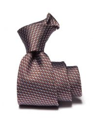 Campania Slim Structure Medium Brown Silk Tie