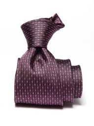Campania Structure Dark Purple Silk Tie