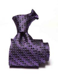 Campania Striped Dark Purple Silk Ties