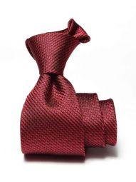 Campania Structure Dark Red Silk Tie