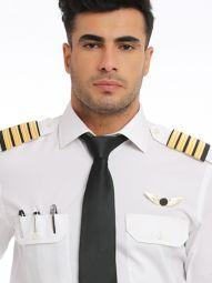Captain White Blended Slim Fit Shirt
