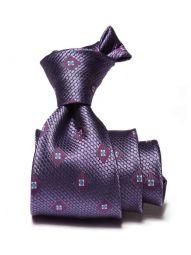 Florentine Minimals Dark Purple Silk Tie