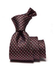 Florentine Minimals Dark Black Silk Tie