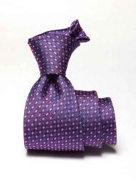 Florentine Minimals Medium Lilac Silk Tie