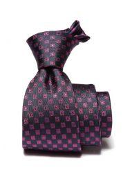Florentine Minimals Navy Silk Tie