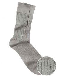 Rib Light Grey Socks