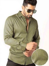 Dominic Green Blended Slim Fit Printed Shirt