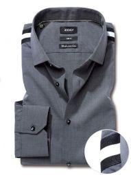 Flavio Dark Grey Blended Slim Fit Solid Shirt