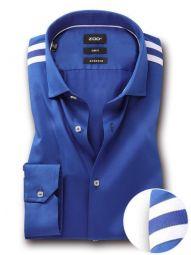 Giorgio Cobalt Blended Slim Fit Solid Shirt