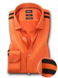 Giorgio Orange Blended Slim Fit Solid Shirt