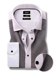 Jorah Light Grey Cotton Slim Fit Solid Shirt