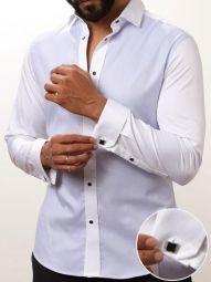 Jorah Sky Cotton Slim Fit Solid Shirt