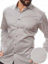 Luca Black Blended Slim Fit Printed Shirt