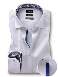 Pietro White Cotton Slim Fit Solid Shirt