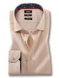 Riccardo Cream Blended Slim Fit Solid Shirt