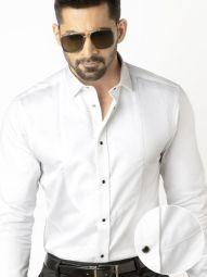 Spectre White Cotton Slim Fit Tuxedo Shirt