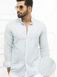 Tiesto Sky Blended Slim Fit Solid Shirt