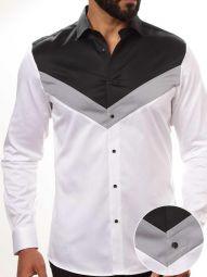 Tormund White Cotton Slim Fit Solid Shirt