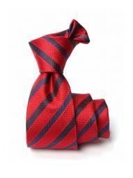 Bartoli Striped Dark Red Silk Tie