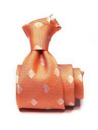 Bartoli All Over Medium Orange Silk Tie