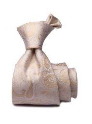 Bartoli Paisleys Dark Beige Silk Tie