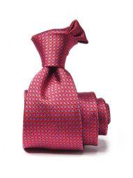 Bartoli Structure Dark Red Silk Tie