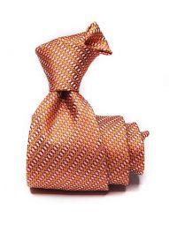 Bartoli Structure Dark Orange Silk Tie