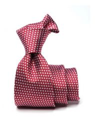 Campania Structure Red Medium Silk Tie