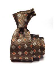 Florentine Minimals Dark Beige Silk Tie