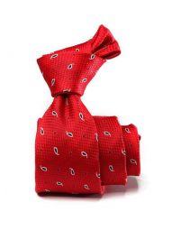 Kingcrest Slim Minimals Dark Red Polyester Tie