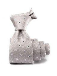 Kingcrest Slim Minimals Light Grey Polyester Tie