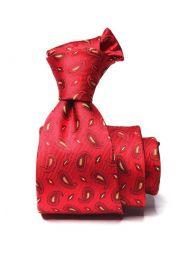 Panaro Paisleys Dark Red Silk Tie