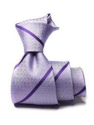 Sicilia Striped Dark Lilac Silk Ties