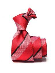 Sicilia Striped Dark Red Silk Ties