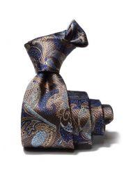 Torino All Over Dark Gold Silk Tie