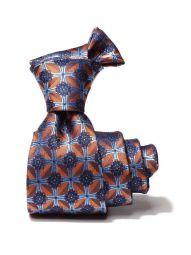 Torino All Over Orange Dark Silk Tie