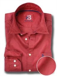 Bale Red Cotton Casual Solid Shirt