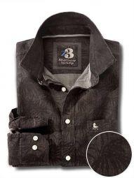 Jones Indigo Black Cotton Casual Printed Shirt
